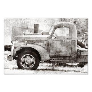Velhos oxidados pegaram o impressão fotográfico do impressão de foto