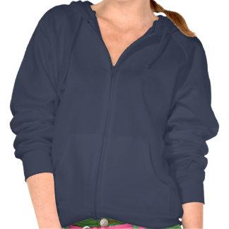 Velo liso do hoodie dos azuis marinhos para mulher moleton com capuz