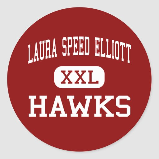 Velocidade Elliott de Laura - falcões - meio - Boo Adesivo Redondo