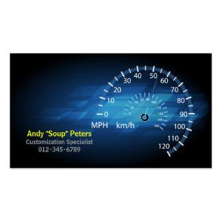 Velocímetro do cartão de visita RPM do mecânico