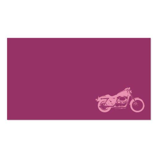 velomotor da bicicleta do rosa da motocicleta moto cartoes de visitas