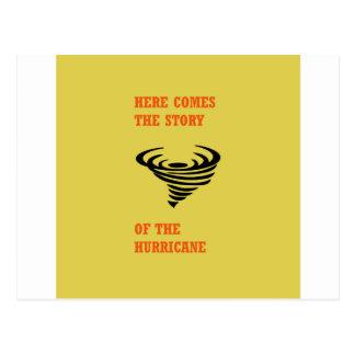 Vem aqui a história do furacão cartão postal