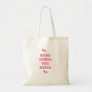 Vem aqui a noiva sacola tote budget