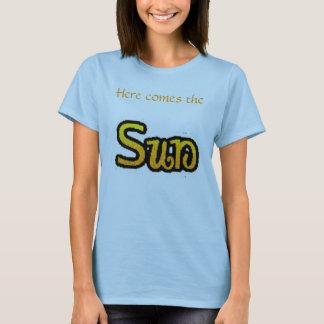 """Vem aqui o T """"azul """" de Sun Camiseta"""