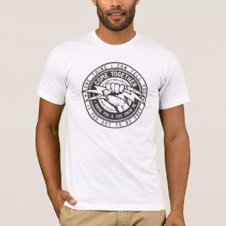 Vem junto o logotipo da união camiseta