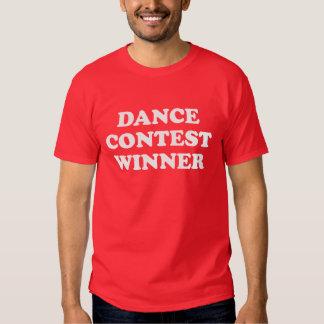 Vencedor da competição da dança t-shirts