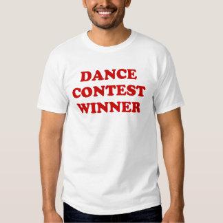 Vencedor da competição da dança tshirt