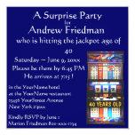 Vencedor da festa de aniversário do slot machine convite