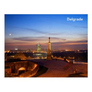 vencedor do monumento de Belgrado do cartão