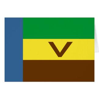 Venda, bandeira de África do Sul Cartoes