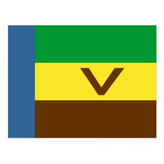 Venda bandeira de África do Sul Cartão Postal