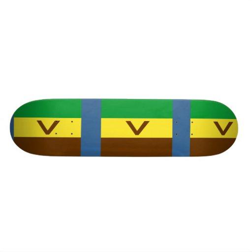 Venda, bandeira de África do Sul Skate