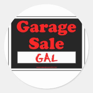 Venda de garagem galão adesivo