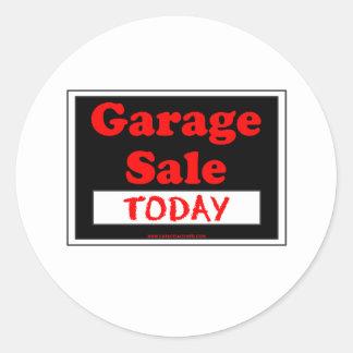Venda de garagem hoje adesivo