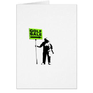 Venda do golfe cartão comemorativo