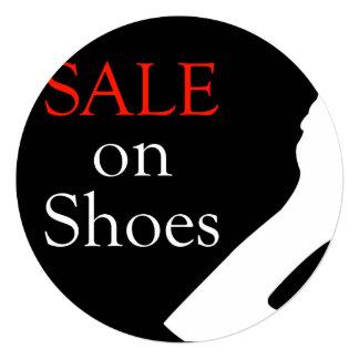 Venda em calçados com silhueta de uns calçados convite quadrado 13.35 x 13.35cm