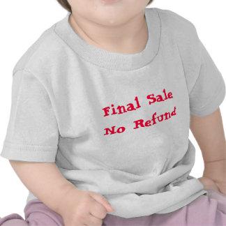 Venda final nenhum reembolso camisetas