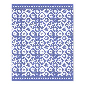 Venda justa bonito do assar do país azul e branco panfletos personalizado