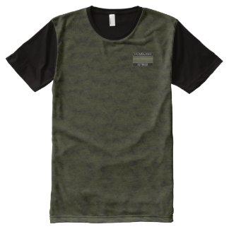 Venda moderna da camisa do desenhista esverdeado