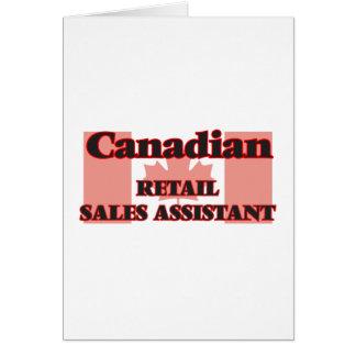 Vendas a retalho canadenses assistentes cartão comemorativo
