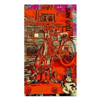 Vendas da bicicleta - modelo de cartão de negócios cartão de visita