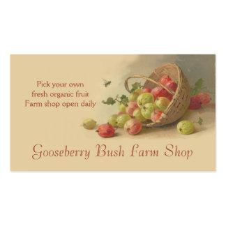 Vendas da fruta das morangos dos Gooseberries Modelo Cartao De Visita