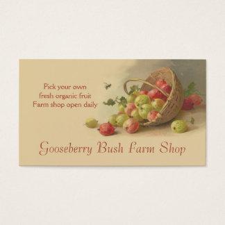 Vendas da fruta das morangos dos Gooseberries Cartão De Visitas