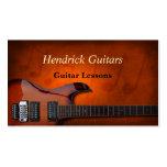 Vendas da guitarra das lições da guitarra cartoes de visitas
