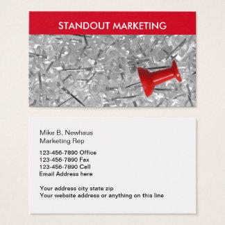 Vendas e marketing poderosos cartão de visitas