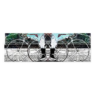 vendas urbanas da bicicleta - cartão de visita da
