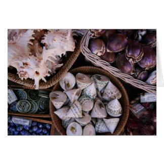 Vende escudos do mar cartão comemorativo