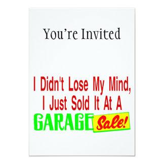 Vendeu minha mente na venda de garagem convite 12.7 x 17.78cm