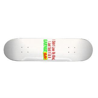 Vendeu minha mente na venda de garagem shape de skate 18,7cm