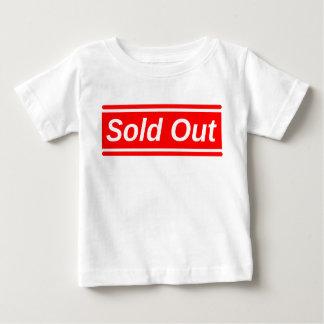 Vendido para fora camiseta para bebê