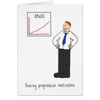 Vendo o progresso motiva cartão comemorativo