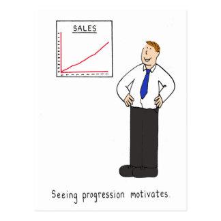 Vendo o progresso motiva cartão postal