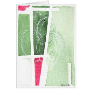 Vendo o verde cartão comemorativo