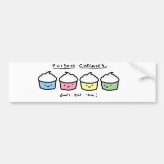 veneno-cupcakes adesivo para carro