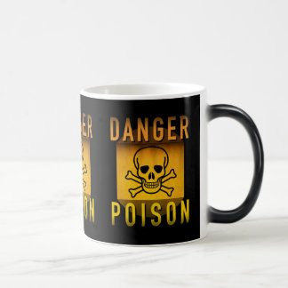Veneno do perigo que adverte o Grunge retro da Caneca Mágica