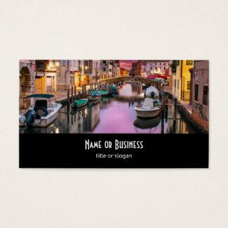Veneza, canal cénico de Italia & arquitetura Cartão De Visitas
