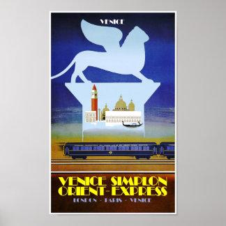 Veneza, poster de viagens expresso de oriente