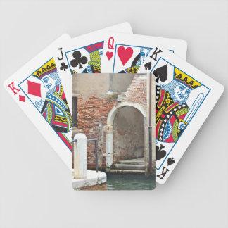 Veneza velha romântica baralhos para pôquer