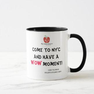 Venha a NYC e tenha um momento do wow! Caneca