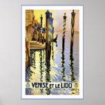 """""""Venise e poster das viagens vintage de le Lido"""""""