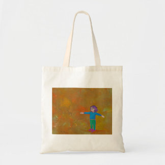 Vento colorido abstrato moderno da mulher da arte  sacola tote budget