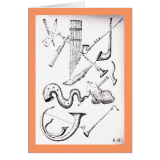 vento instruments3 musical cartao