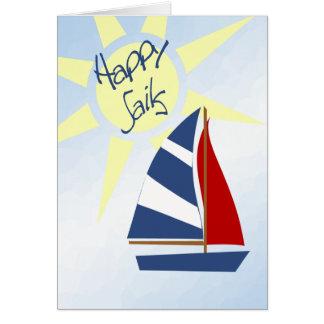 Ventos justos das velas felizes e cartões de