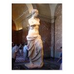 Vênus de Milo no Louvre Paris France David segunda Cartão Postal