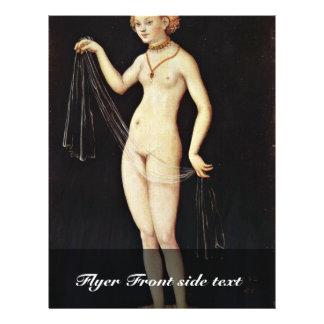Venus por Cranach D. Ä. Lucas (a melhor qualidade) Modelo De Panfletos
