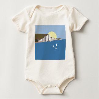 Verão branco dos penhascos body para bebê